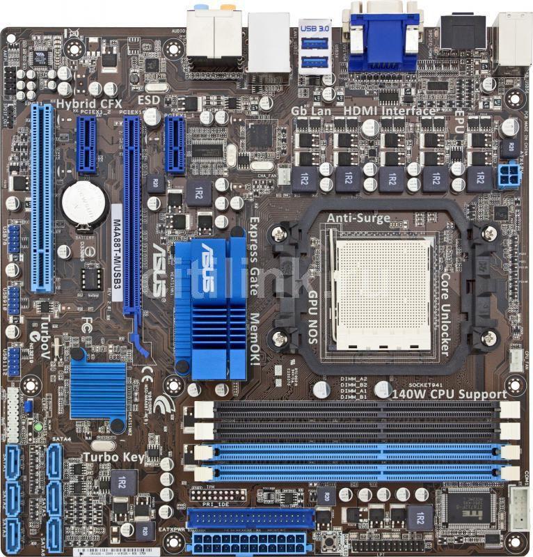 Материнская плата ASUS M4A88T-M/USB3 SocketAM3, mATX, Ret