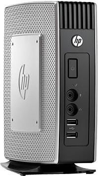 Тонкий клиент  HP t5570,  VIA  Nano  U3500,  DDR3 1Гб, 2Гб(SSD),  VIA ChromotionHD 2.0,  без ODD,  Windows Embedded Standard,  серебристый и черный [xr242aa]