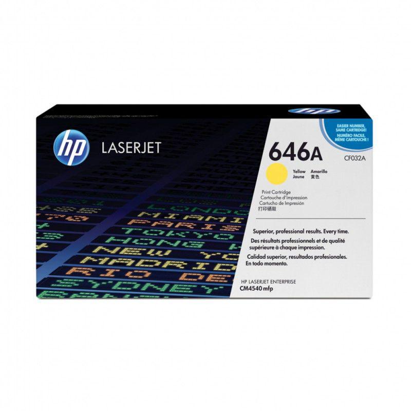 Картридж HP CF032A желтый