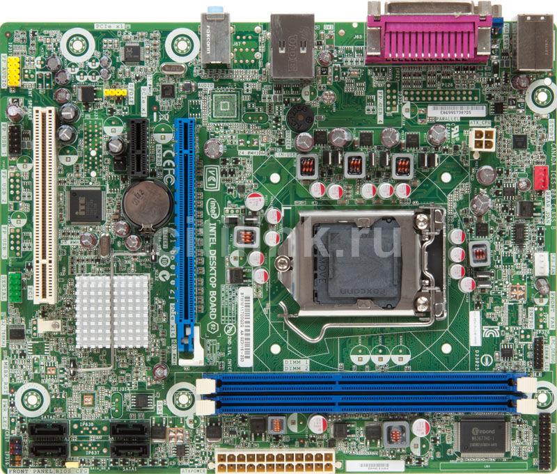 Материнская плата INTEL DH61WW-B3 LGA 1155, mATX, Ret