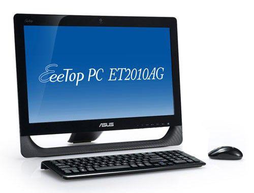 Моноблок ASUS EeeTop PC ET2010AG, AMD Athlon II X2 250u, 2Гб, 500Гб, ATI Radeon HD 5470, DVD-RW, Windows 7 Home Premium, черный [90pe3ea61118h6049c0c]