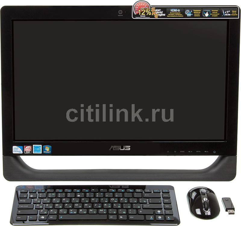 Моноблок ASUS ET2011EGT, Intel Pentium Dual-Core E5700, 4Гб, 500Гб, ATI Radeon HD 5470 - 512 Мб, DVD-RW, Windows 7 Home Premium, черный [90pe3qz23224e61b9c0c]