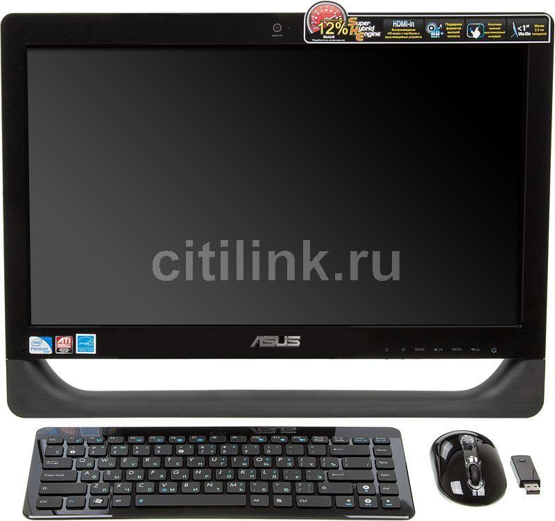 Моноблок ASUS ET2011EGT, Intel Pentium Dual-Core E5700, 4Гб, 500Гб, ATI Radeon HD 5470 - 512 Мб, DVD-RW, Free DOS, черный [90pe3qz23224l01b9c0c]