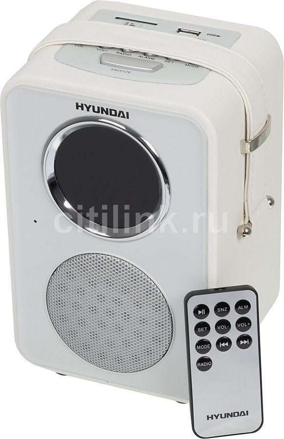 Радиоприемник HYUNDAI H-1624,  белая кожа