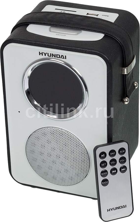 Радиоприемник HYUNDAI H-1624,  черная кожа