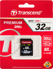 Карта памяти SDHC UHS-I TRANSCEND Premium 32 ГБ, 30 МБ/с, 200X, Class 10, TS32GSDHC10,  1 шт. вид 1