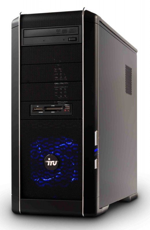 ПК iRU Home 710 i5-680/4096/ 500/GTX260-896/DVD-RW/CR/W7-HB64/black