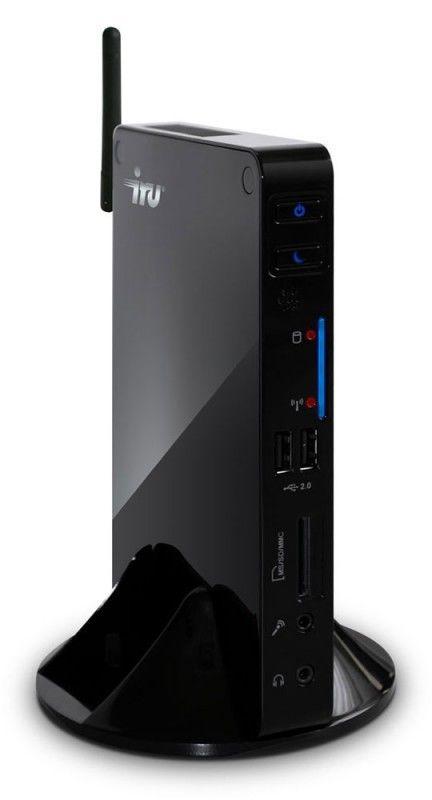 Неттоп iRU 113 Atom D410/1Gb/250/Intel GMA-3150/ CR/ WiFi/ 6xUSB,LAN-Gbt/white