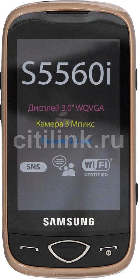 Мобильный телефон SAMSUNG GT-S5560i  черный/золотистый