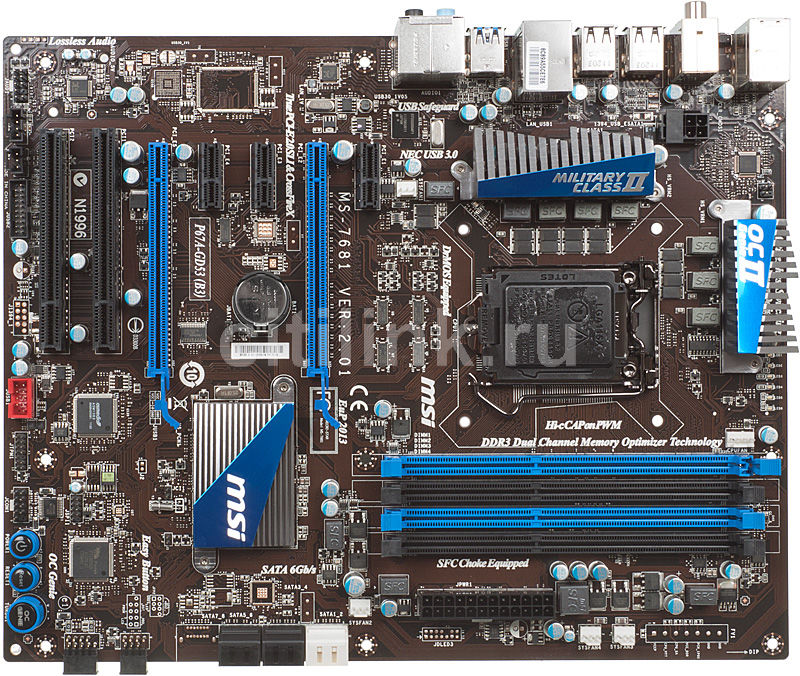 Материнская плата MSI P67A-GD53 (B3) LGA 1155, ATX, Ret