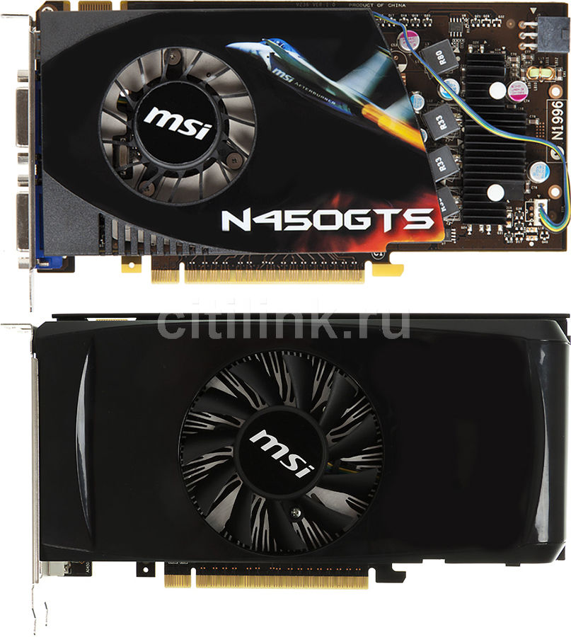 Видеокарта MSI GeForce GTS 450,  1Гб, GDDR5, Ret [n450gts-m21gd5]