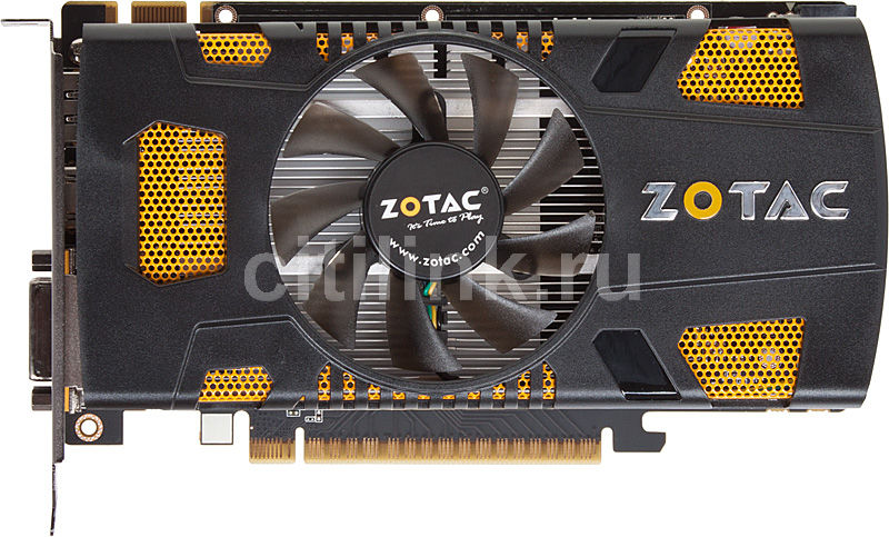 Видеокарта ZOTAC GeForce GTX 550Ti, ZT-50401-10L,  1Гб, GDDR5, Ret