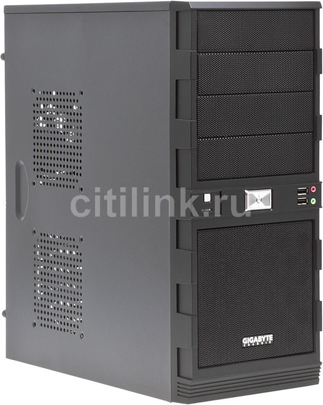 Корпус ATX GIGABYTE GZ-H8, Midi-Tower, без БП,  черный