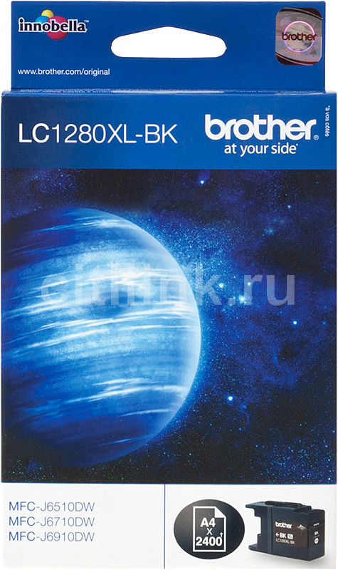 Картридж BROTHER LC1280XLBK черный lc73 lc79 lc75 lc1240 lc1280 refillable cartridge for brother dcp j6510dw j6710dw j6910dw