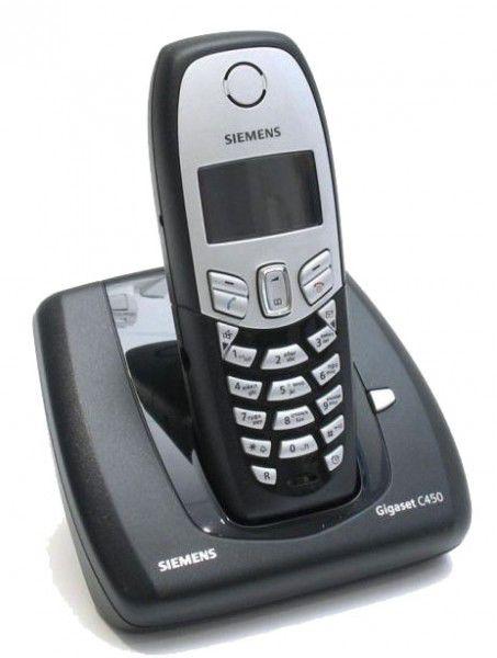 Радиотелефон SIEMENS C450,  черный