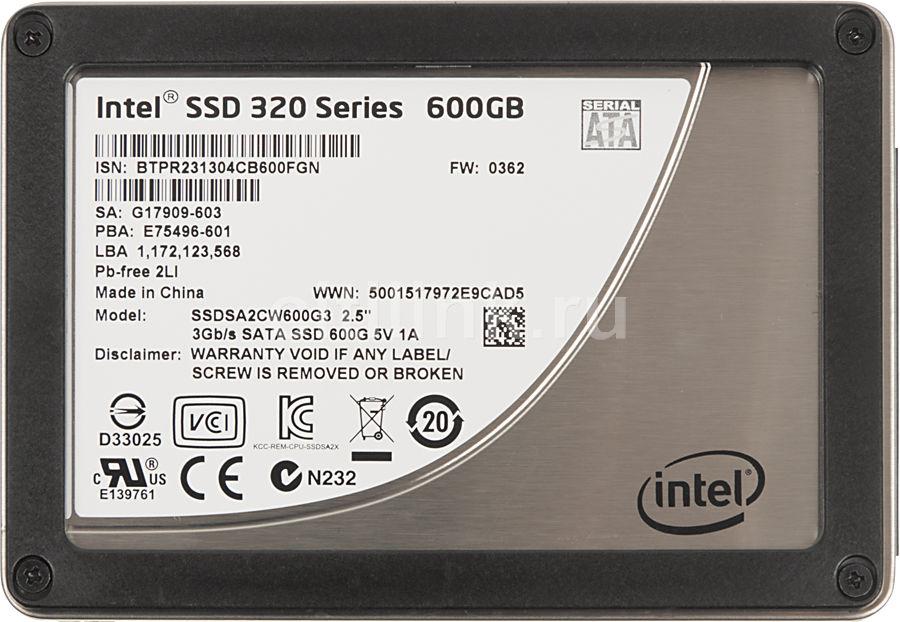 Накопитель SSD INTEL 320 Series SSDSA2CW600G310 600Гб, 2.5
