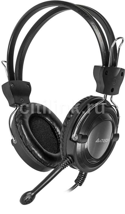 Наушники с микрофоном A4 HS-19,  мониторы, серебристый  / черный [hs-19-1]