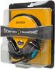 Наушники с микрофоном A4 HS-19,  накладные, черный  / голубой [hs-19-3] вид 8