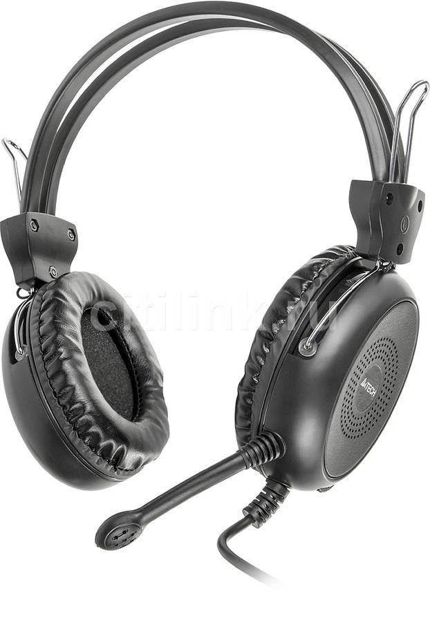 Наушники с микрофоном A4 HS-30,  мониторы, черный
