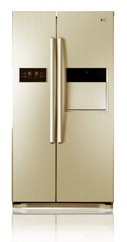 Холодильник LG GW-C207FVQA,  двухкамерный,  бежевый