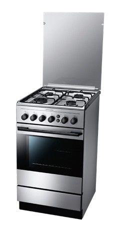 Газовая плита ELECTROLUX EKG511111X,  газовая духовка,  серебристый