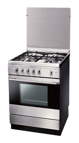 Газовая плита ELECTROLUX EKG601104X,  газовая духовка,  серебристый