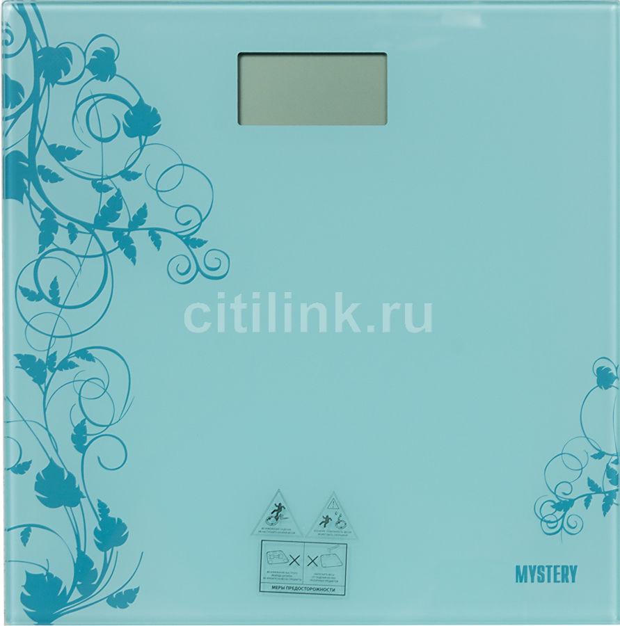 Напольные весы MYSTERY MES1808, до 150кг, цвет: голубой [mes-1808 blue]