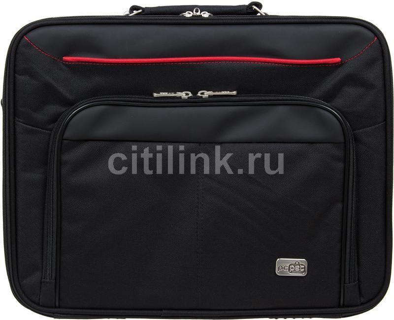 """Сумка для ноутбука 15.6"""" PC PET 600D, черный/красный [pcp-a3015bk]"""