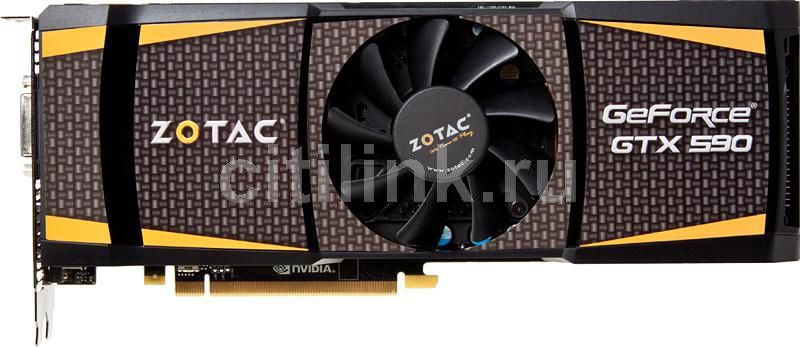 Видеокарта ZOTAC GeForce GTX 590, ZT-50501-10P,  3Гб, GDDR5, Ret