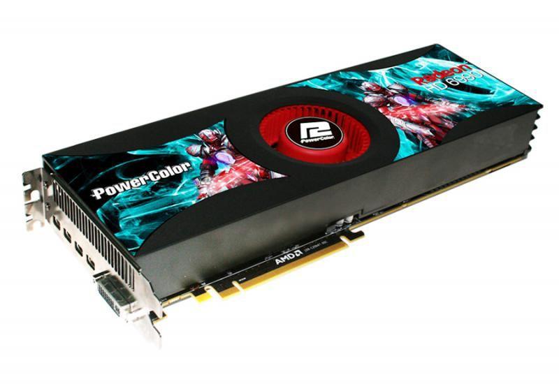 Видеокарта POWERCOLOR Radeon HD 6990,  4Гб, GDDR5, Ret [ax6990 4gbd5-m4d]
