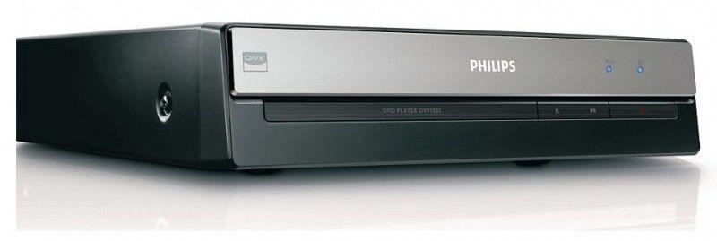 DVD-плеер PHILIPS DVP1033/51,  черный и серебристый