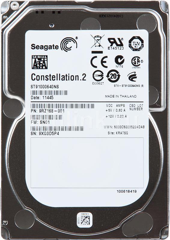 "Жесткий диск SEAGATE Constellation.2 ST91000640NS,  1Тб,  HDD,  SATA III,  2.5"""