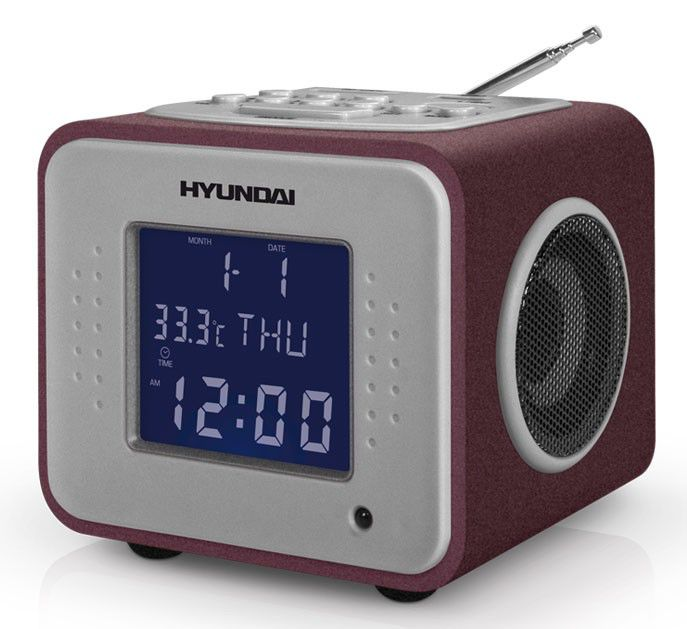 Радиоприемник HYUNDAI H-1625,  бордовый