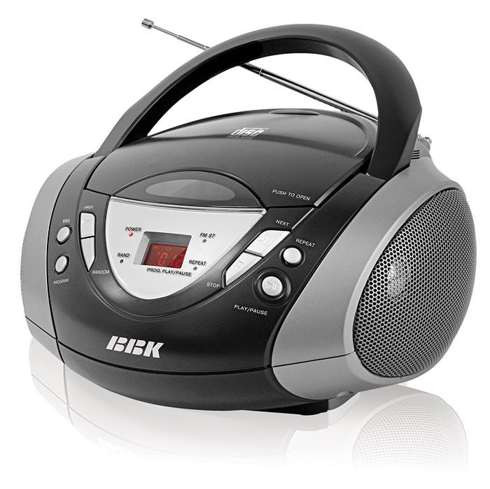 Аудиомагнитола BBK BX502,  черный и серебристый