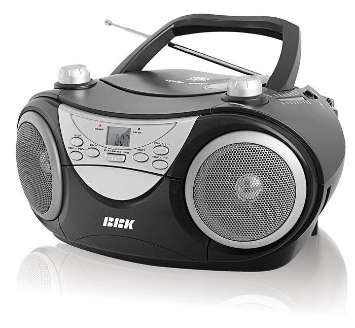 Аудиомагнитола BBK BX504U,  черный и серебристый