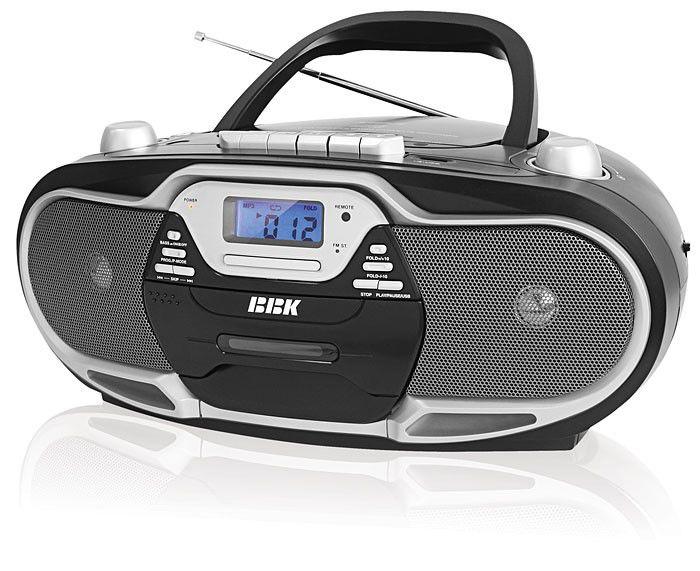 Аудиомагнитола BBK BX704U,  черный и серебристый