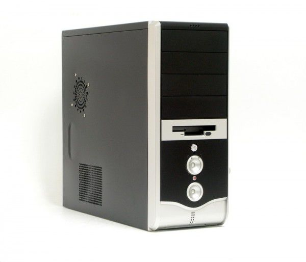 Корпус ATX LINKWORLD 316-09, 350Вт,  черный и серебристый