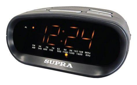 Радиобудильник SUPRA SA-32FM, оранжевая подсветка,  черный