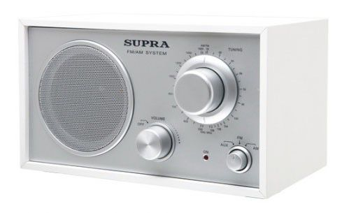 Радиоприемник SUPRA ST-107,  белый