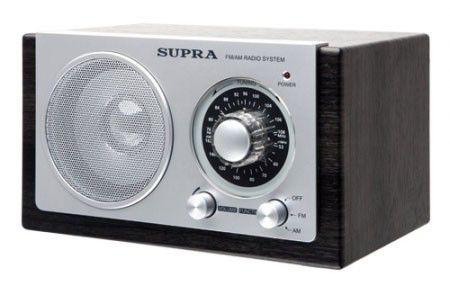 Радиоприемник SUPRA ST-108,  черный