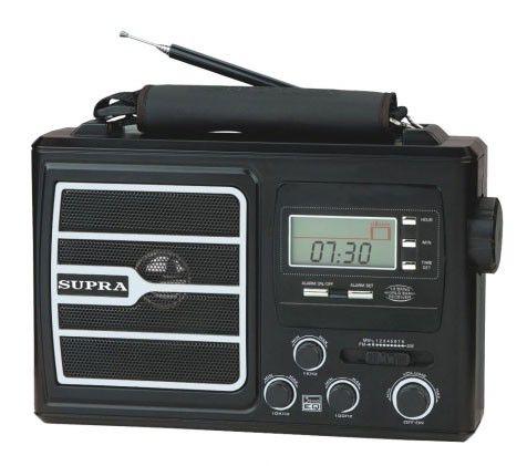 Радиоприемник SUPRA ST-110,  черный
