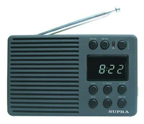 Радиоприемник SUPRA ST-112,  черный