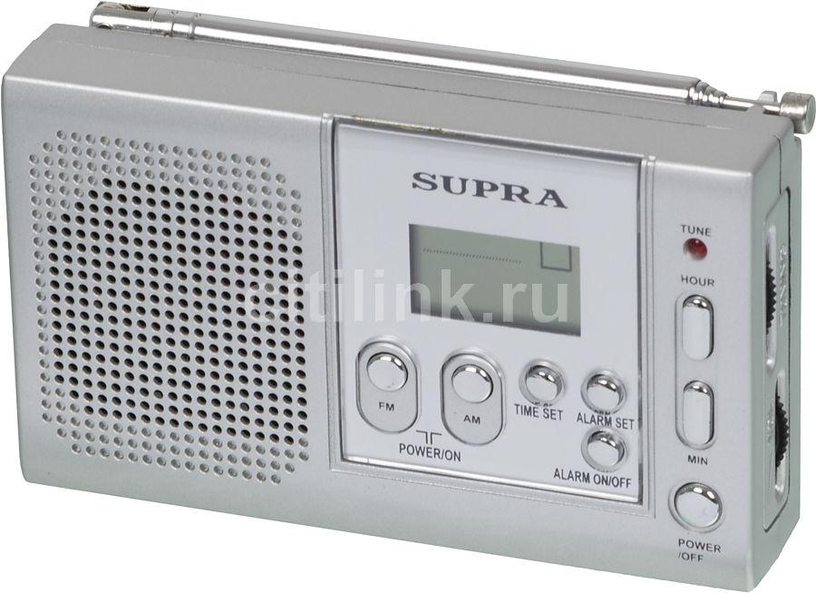 Радиоприемник SUPRA ST-115,  серебристый
