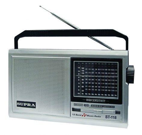 Радиоприемник SUPRA ST-118,  серебристый