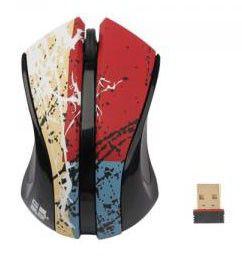 Мышь G-CUBE Paint Splash G9PS-310R оптическая беспроводная USB, черный и красный