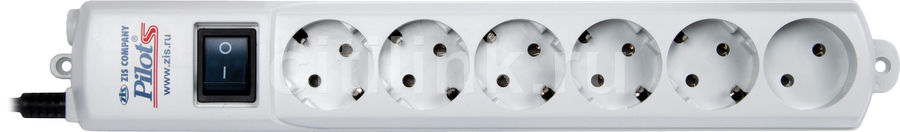 Сетевой фильтр PILOT S, 7м, белый