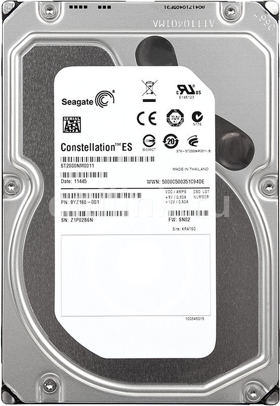 Жесткий диск SEAGATE Constellation ES ST2000NM0011,  2Тб,  HDD,  SATA III,  3.5""