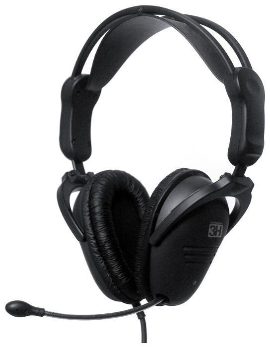 Наушники с микрофоном STEELSERIES 3H,  61008,  мониторы, черный