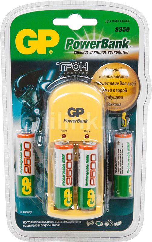 Аккумулятор + зарядное устройство GP PowerBank PB350GS250TL-2CR4,  4 шт. AA,  2450мAч