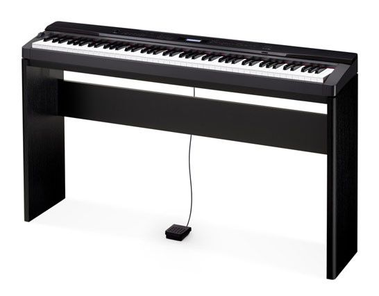 Цифровое фортепиано PRIVIA CASIO PX-330BK, 88, полновзвешенная, полноразмерные, 128, черный